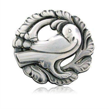 thumbnail image of Estate Georg Jensen Denmark Sterling Silver Brooch Pin Number 134