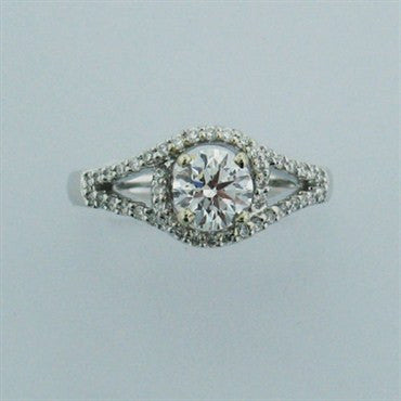 image of Hearts On Fire 0.70ct Diamond 14k Gold Engagement Ring