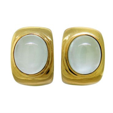 image of Fred Paris 18K Gold Moonstone Earrings