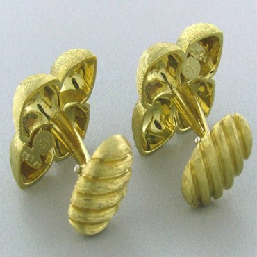 image of Heavy Estate Henry Dunay 18k Gold Cufflinks