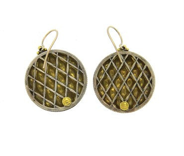thumbnail image of Gurhan Capitone 24k Gold Diamond Earrings