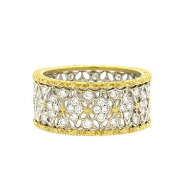 thumbnail image of Buccellati 18k Gold Diamond Band Ring