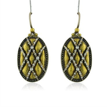 image of New Gurhan Capitone Collection 24K Yellow Gold Diamond Earrings