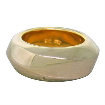 thumbnail image of New Pomellato 18k Gold Wide 9mm Band Ring