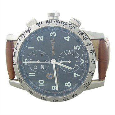 thumbnail image of Eberhard Alfa Romeo Stainless Steel Chronograph Mens Watch 116631146