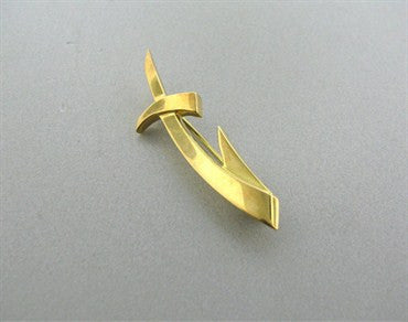 image of Estate Tiffany & Co Paloma Picasso 18K Gold Sagittarius Brooch Pin