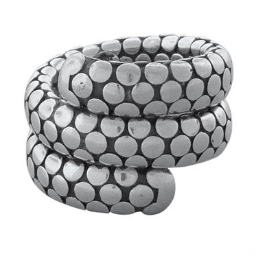 image of John Hardy Sterling Silver Double Coil Dots Collection Wrap Ring