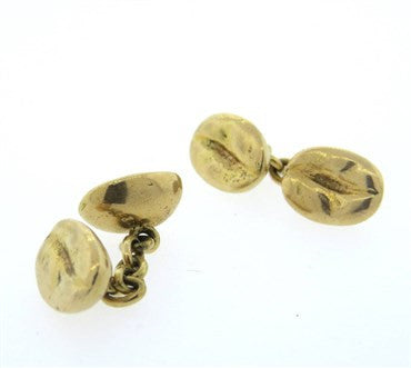 thumbnail image of 14k Gold Coffee Bean Cufflinks