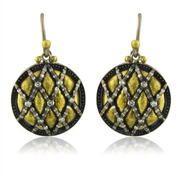 thumbnail image of New Gurhan Capitone Collection 24K Gold Diamond Earrings