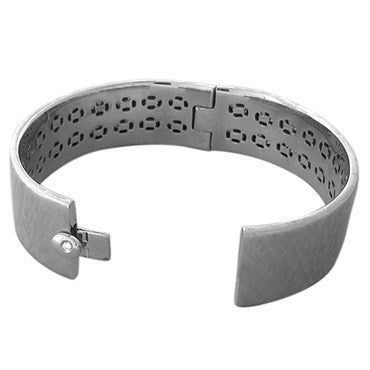 thumbnail image of Roberto Coin 18K White Gold 1.50ctw Diamond Bangle Bracelet