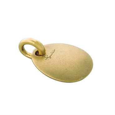 image of New Pomellato 18k Satin Finish Gold Oval Pendant Charm