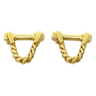 thumbnail image of Mid Century Gold Stirrup Cufflinks