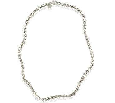 image of Estate Tiffany & Co Sterling Silver Venetian Link Necklace