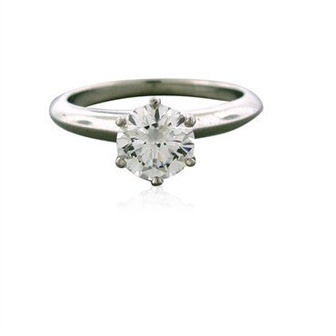 image of Tiffany & Co Platinum 0.96 F VS2 Diamond Engagement Ring