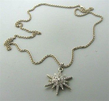 thumbnail image of H Stern 18K Yellow Gold Diamond Star Pendant Necklace