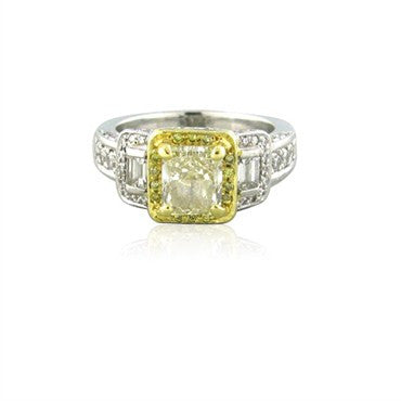 thumbnail image of Gregg Ruth Platinum 18K Gold Fancy Color 2.41ctw Diamond Ring