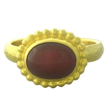 thumbnail image of New Gurhan 24K Gold Ruby Cabochon Ring