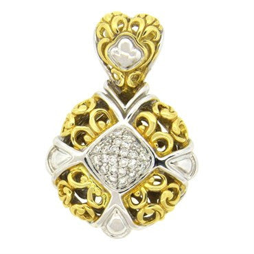 image of John Hardy 18k Gold Diamond Pendant Enhancer