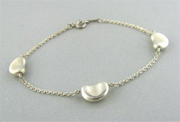 thumbnail image of Estate Tiffany & Co Elsa Peretti Bean Sterling Silver Bracelet