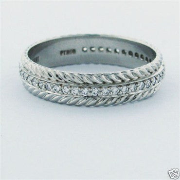 image of Estate Ritani Platinum Diamond Wedding Ring Eternity Band