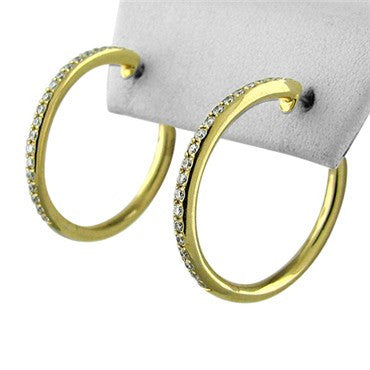 thumbnail image of Faraone Mennella 18K Yellow Gold Diamond Hoop Earrings