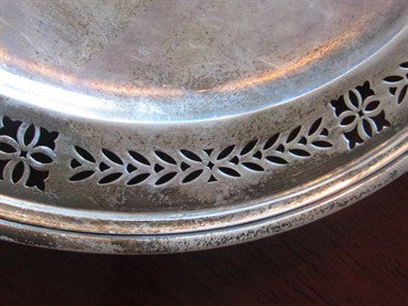 image of Estate Vintage Tiffany & Co Sterling Silver Reticulated Tray