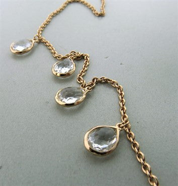 image of Ippolita Rose Collection Sterling Clear Quartz Long Necklace 31 Inches