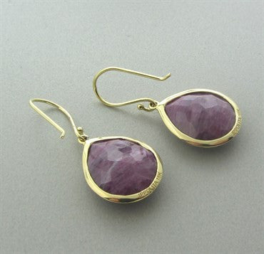 thumbnail image of New Ippolita 18K Gold Ruby Rock Candy Teardrop Earrings