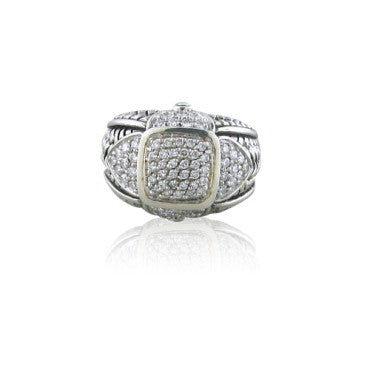 thumbnail image of New Scott Kay Sterling Silver 1.07ct Diamond Ring