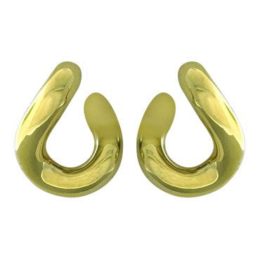 image of Pomellato Gourmette 18k Gold Twist Earrings