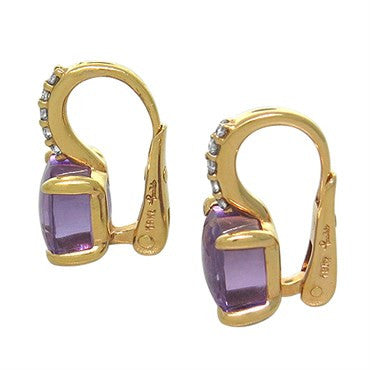 thumbnail image of New Pomellato Nudo 18k Gold Diamond Amethyst Earrings