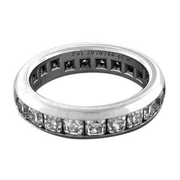 thumbnail image of Tiffany & Co Lucida Platinum Chanel 2.50ctw Diamond Wedding Band Ring