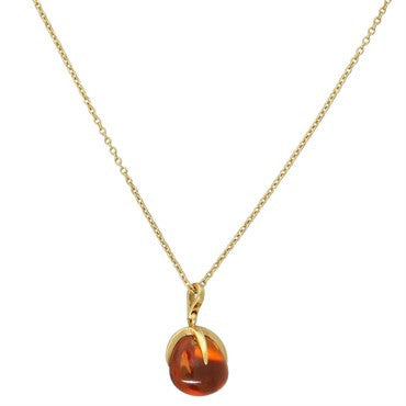 image of New Pomellato Veleno 18k Gold Citrine Pendant Necklace