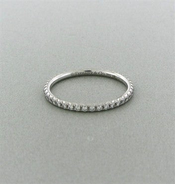 thumbnail image of Tiffany & Co Metro Collection 18K Gold Diamond Eternity Band Ring