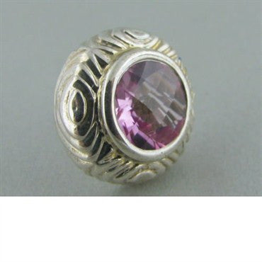thumbnail image of Krypell Sterling 14k Gold Round Pink Topaz Earrings
