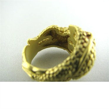 thumbnail image of Estate Kieselstein Cord 18k Gold Dual Frog Ring