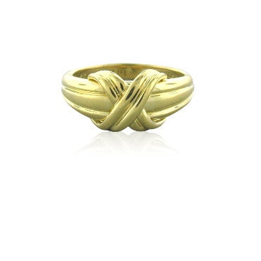 image of Estate Tiffany & Co Signature 18k Gold Ring