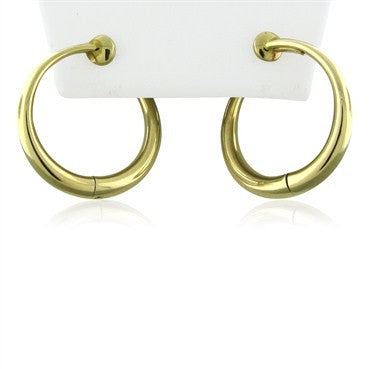 image of Vintage Tiffany & Co 14K Yellow Gold Hoop Earrings