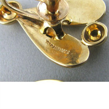 thumbnail image of Vintage Tiffany & Co 14k Gold Fly Earrings