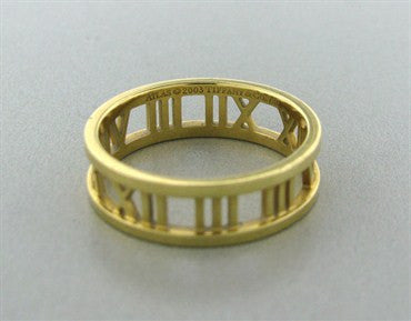 thumbnail image of Estate Tiffany & Co Atlas 18K Yellow Gold Ring