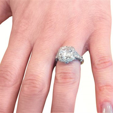 thumbnail image of Tiffany & Co. Legacy 3.92ctw G VS2 Diamond Platinum Engagement Ring