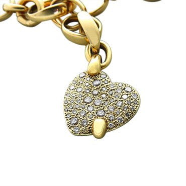 image of New Pomellato Sabbia 18k Gold 1.42ctw Fancy Diamond Heart Necklace