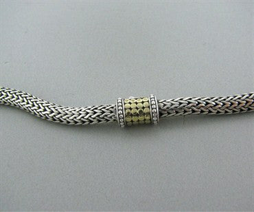 image of John Hardy Sterling Silver 18k Yellow Gold Dots Necklace