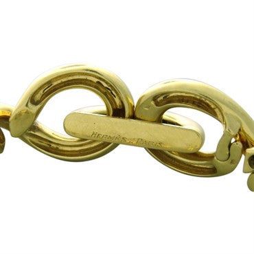 image of Hermes Torsade Gold Chain Link Necklace