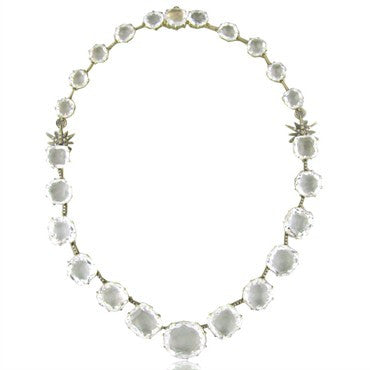 thumbnail image of H.Stern 18K Gold Moonlight Crystal Quartz Diamond Necklace
