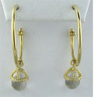 thumbnail image of Temple St. Clair 18k Gold Crystal Diamond Earrings