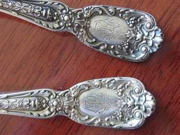 image of Gorham Florentine Sterling Salad Serving Set