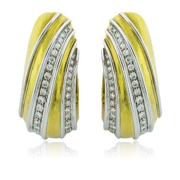 image of H. Stern Estate 18k Gold 1.74ct Diamond Large Earrings