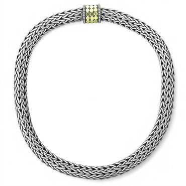 image of John Hardy Dots Sterling Silver 18K Gold Large Woven Necklace