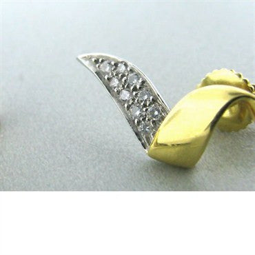 thumbnail image of Vintage Tiffany & Co Picasso 18k Gold Diamond Earrings